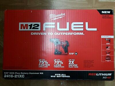 Milwaukee M12 Fuel 5/8 inch Rotary Hammer Kit - 241621XC