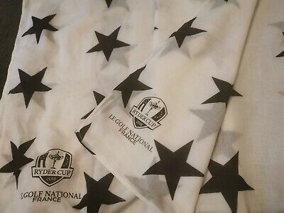 Official Ryder Cup Merchandise 2018. Stella scarf. Black And White Stars. One...
