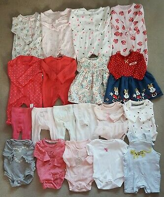 19 Baby Girls Clothing Items Size 0-3 Mths - Joblot 25
