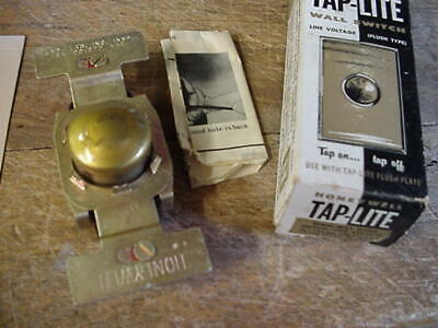 💡 Vintage Honeywell Tap-Lite Taplite Wall Light Switch, Push Button 3-Way NOS