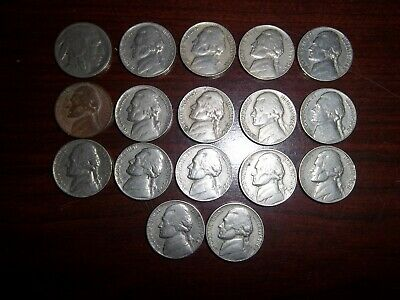 1925-1963-D Buffalo and Jefferson Nickel Collection, 17 Unique Dates in Total