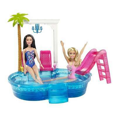 """Mattel DGW22 Barbie Glam Pool Doll Playsets with Themed-Accessories """"NEW"""""""