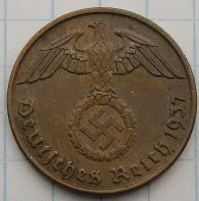 SWASTIKA copper penny ww2 .The real coin,no fakes nazi