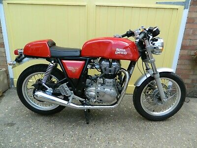 Near Mint 2015 Royal Enfield Continental GT 535cc,1,442 miles, + lots of extras!