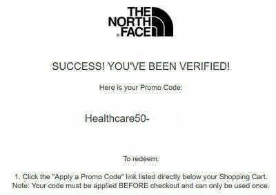 North Face 50% Off Discount Code