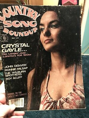 Country Song Roundup Magazine 1977 Crystal Gayle