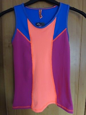 M & S Kids Active Sport Vest Top Moisture Wicking BNWT Age 12-13