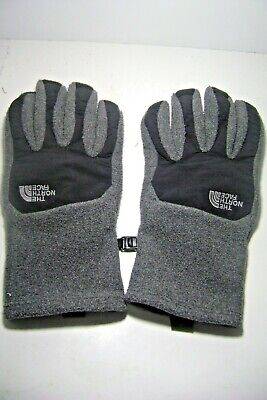 NORTH FACE Charcoal Gray Black Ladies Gloves L