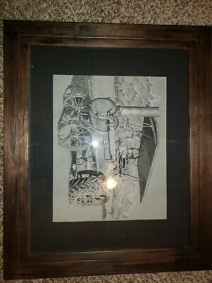Framed Steam Traction Engine Drawing.