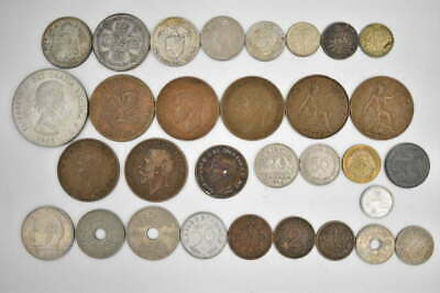 31 RARE FIND FOREIGN WORLD SILVER & OLDER COLLECTIBLE COIN LOT w/ SILVER COINS
