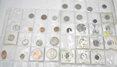 38 WORLD FOREIGN COLLECTOR COIN AND STATE TAX TOKEN COLLECTOR LOT w/ CARRIER
