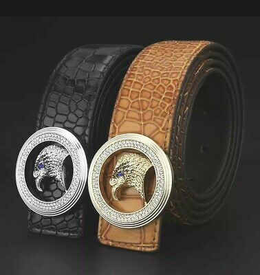 WOMENS DESIGNER BELTS EAGLE DIAMONDS LEATHER BELT FOR WOMEN JEANS S M L XL UK