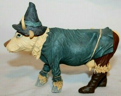 BEAUTIFUL 2002 Cow Parade No. 7243~SCARE CROW~Wizard of Oz Figure~RARE & RETIRED