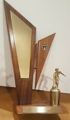 Antique Vintage Wedge Bowling Trophy Men & Women Mid Century Modern