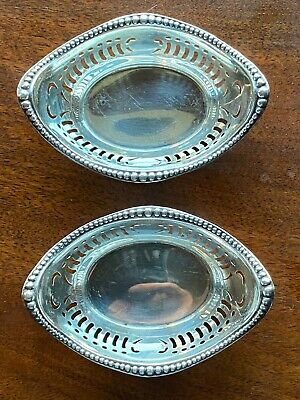 2x Gorham Small Sterling Silver Basket/Candy Nut Dish Bowl Antique 28.35 Grams