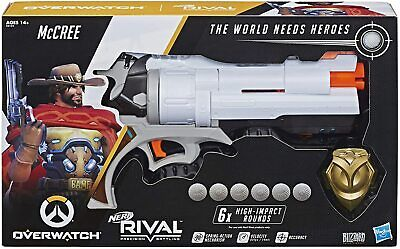 NERF - Overwatch McCree Rival Blaster with Die Cast Badge