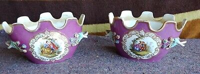 Pair Of Antique French Porcelain Planters