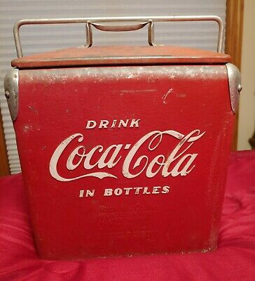 Great 1950s Vintage COCA COLA Cooler Acton Mfg Bottle Opener COKE No Drain Plug
