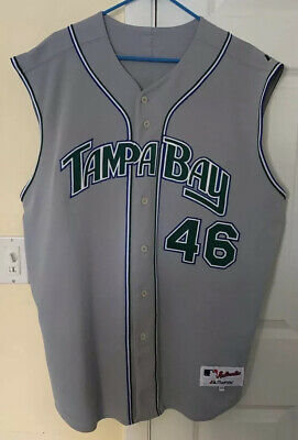 VINTAGE TAMPA BAY DEVIL RAYS 2006 Game Used Brian Meadows Vest Jersey Size 52