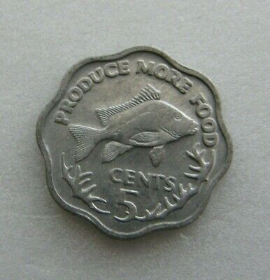 Seychelles Coin 5 cents 1977 Aluminium 18mm