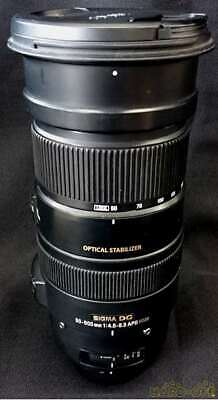 *AS-IS* Sigma Telephoto Zoom Lens For Nikon Dg 50-500mm f/4.5-6.3 APO HSM JAPAN