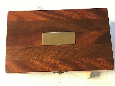 Rare Wooden tube fly box by Bates of Richmond