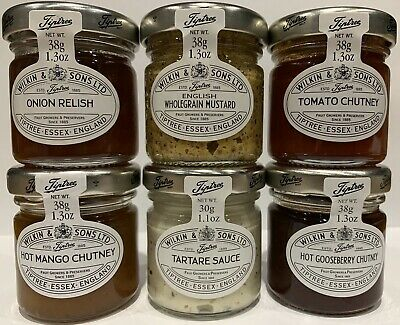 Wilkin & Sons Tiptree Savoury Selection 48 x Miniature Jars 8 Of Each Flavour