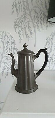 Masotley and sons antique pewter coffee pot