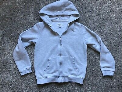 Primark Girls Grey Hooded Sweat Jacket Age 10-11 Years
