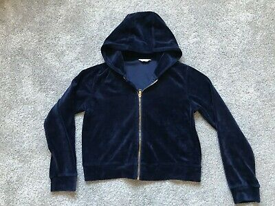 Candy Couture At Matalan Girls Navy Blue Hooded Sweat Jacket Age 11 Years