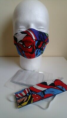 Kids Avengers Spiderman face mask with pm2.5 filter