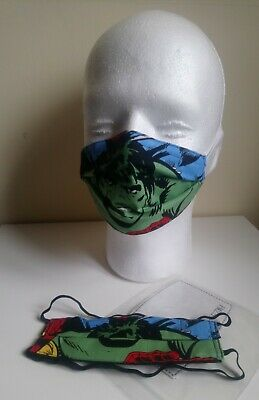 Kids Avengers Hulk face mask with pm2.5 filter
