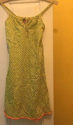 BNWOT DIESEL DRESS YELLOW WITH GREEN SPOTS AND NEON ORANGE TRIM 9-10 Yrs RRP £78