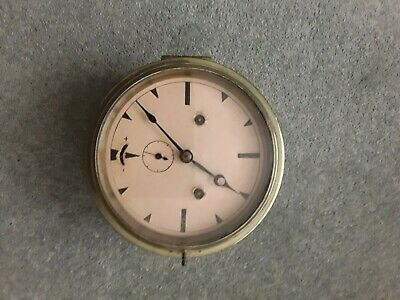 Vintage antique brass ships clock eight inches diameter