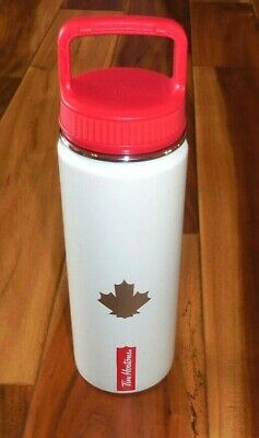 Tim Hortons Coffee Stainless Steel Canadian Maple Leaf Bottle Thermos 20 oz New