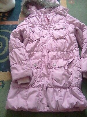 Girls dusty pink jacket from next 9 -10years old used condition