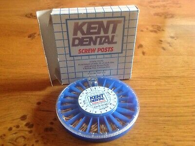 Kent Dental gold plated screw posts and keys,dental  endodontic use