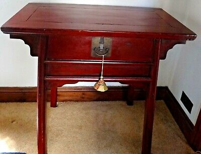 Antique Chinese Red Table
