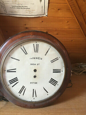 Round wooden clock case with no movement  it is from hyth