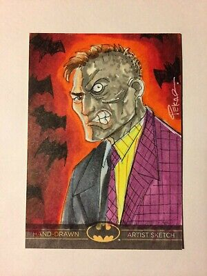 Batman: The Legend Two-Face Original Sketch Card from Cryptozoic Entertainment