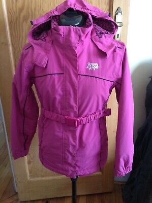 Matalan pink anorak size 12-13yrs with hood and belt