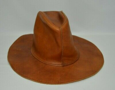 Skully's By Henschel USA Made Vintage Leather Hat Medium M
