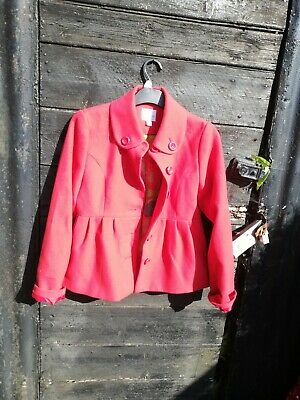 Next red jacket age 13-14 years. Vintage style very pretty