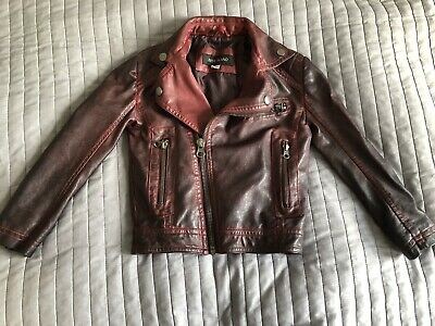 River Island Girls leather look jacket Size 3 years