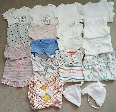 18 Baby Girls Clothing Items Size 0-3Mths - Joblot 26