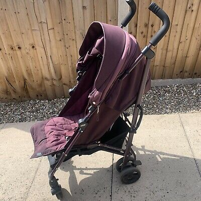 Pink Mamas and papas Stroller / Pushchair with rain cover