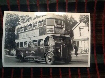 LONDON BUS PHOTO B/W ST916(TB) GJ2092 Route47A Thomas TIlling