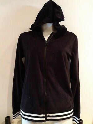 Black Velvet Zip Hoody. 13-14 Years.  Peacocks