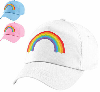 My Little Pony Summer Baseball Cap White Rainbow Glitter Peak Age 4-8 Years