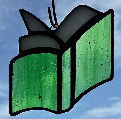 Stained Glass Book Suncatcher